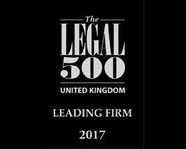 Legal 500 Leading Firm.