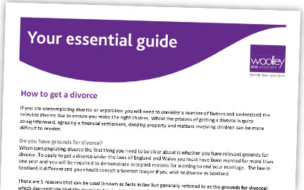 Guide from family lawyers Woolley & Co – How to get a Divorce