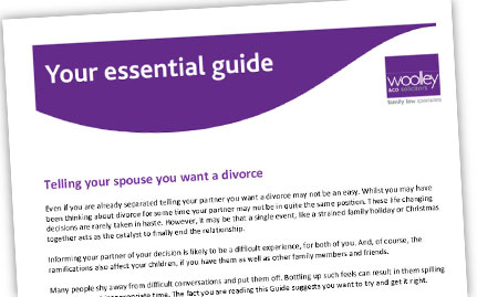 Essential Guide to telling your spouse you want a divorce