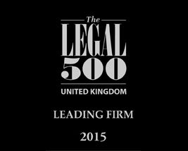 Legal 500 leading firm 2015.