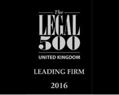 Legal 500 leading firm 2016.