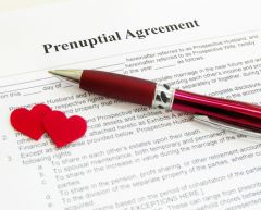 Prenuptial agreement.