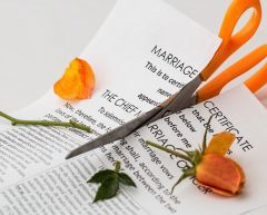 marriage certificate and scissors for article can you divorce the same person more than once.