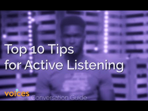 Voices in the Middle Conversation Guide - Top 10 Tips For Active Listening