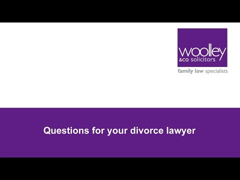 What Questions Should you Ask your Divorce Lawyer?