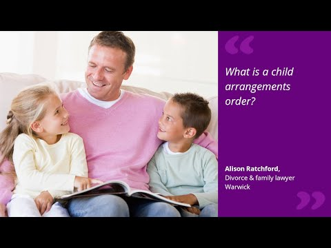 What is a child arrangements order?